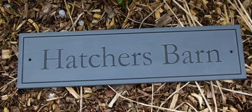 Slate House Sign with Raised Letters | The Sign Maker Shop